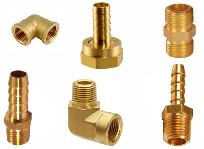 Brass Pipe fittings hose fittings Brass Compression, brass hose barbs